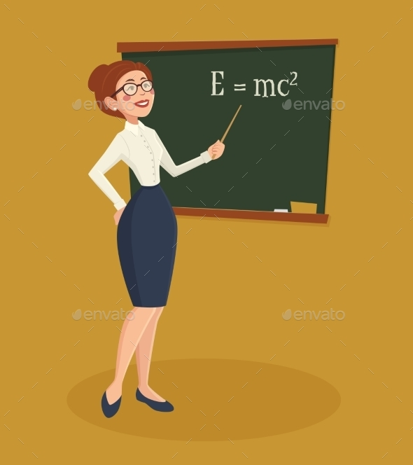 Teacher Woman Illustration  - People Characters