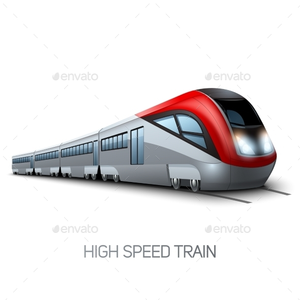 High Speed Modern Train - Miscellaneous Vectors