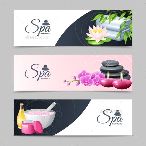 Spa Banner Set - Health/Medicine Conceptual