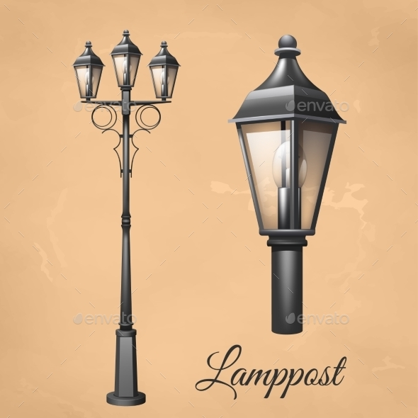 Lamp Post Set - Man-made Objects Objects