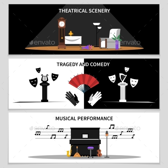 Theatre Banners Set - Miscellaneous Conceptual