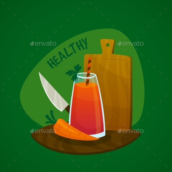 Carrot  Juice Concept - Food Objects