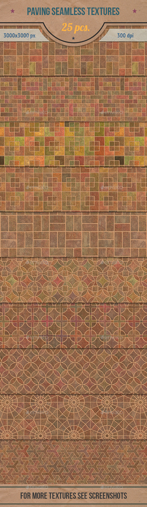Paving Seamless Textures Pack - Stone Textures