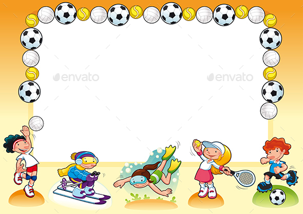 Funny Card with Empty Space for Text - Sports/Activity Conceptual