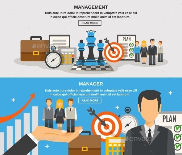 Management Banner Set - Concepts Business