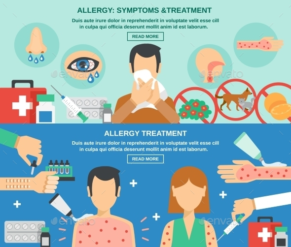 Allergy Banner Set - Health/Medicine Conceptual