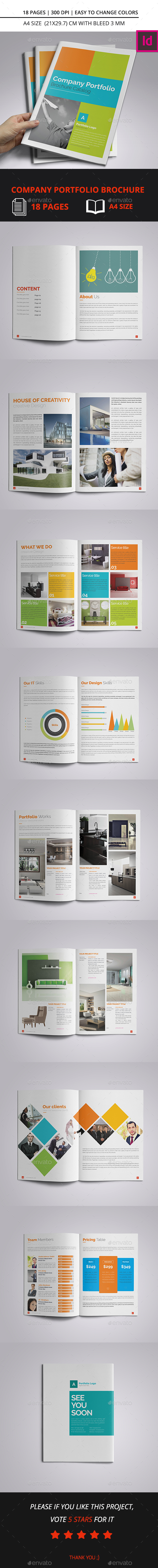 Company Portfolio Brochure Catalog A4 - Corporate Brochures