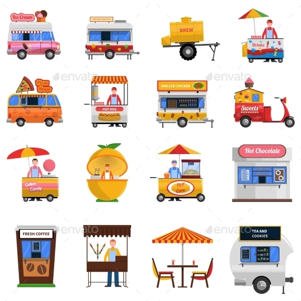 Street Food Icons Set  - Business Icons
