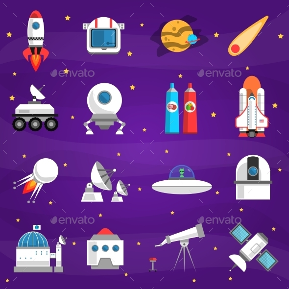 Space Icons Set - Miscellaneous Icons