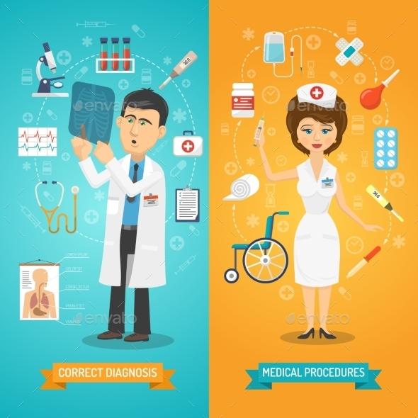 Doctor and Nurse Banner - Health/Medicine Conceptual