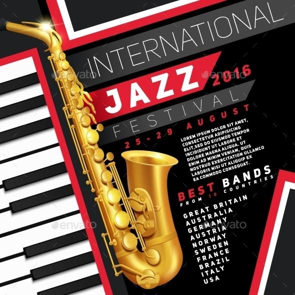 Jazz Festival Poster - Backgrounds Decorative