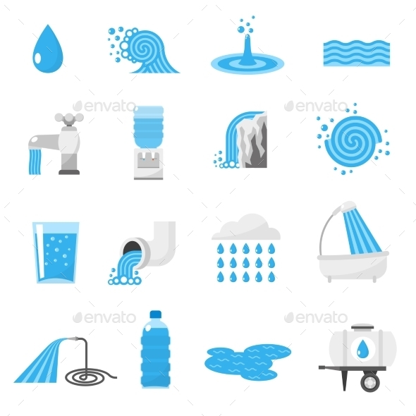 Water Icons Set - Miscellaneous Vectors
