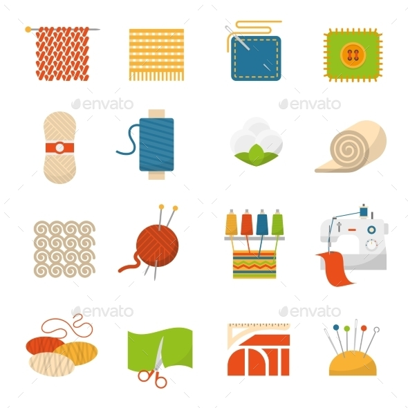Textile Industry Icons - Abstract Icons