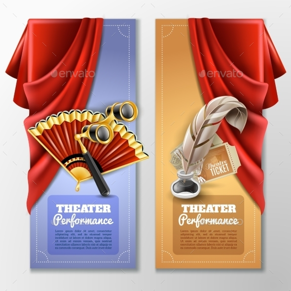 Theatre and Stage Banners Set - Miscellaneous Conceptual
