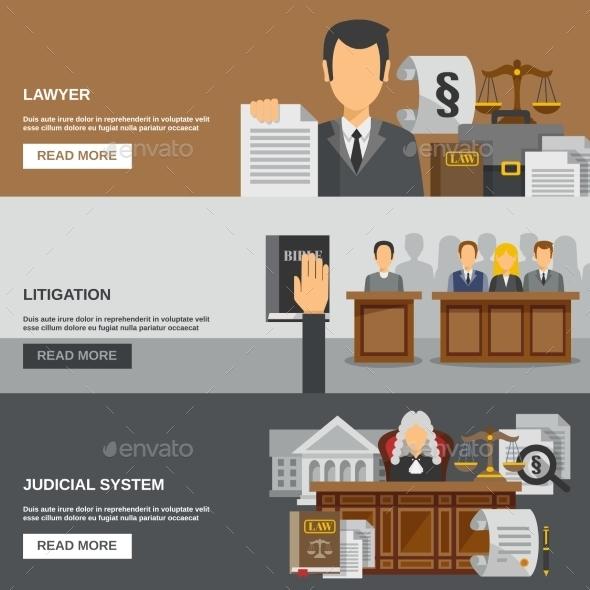 Law Banner Set - Backgrounds Decorative