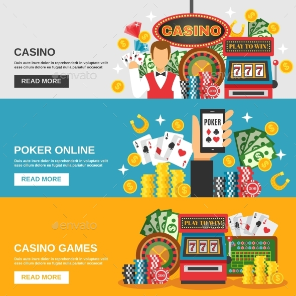 Casino Banners Set - Sports/Activity Conceptual