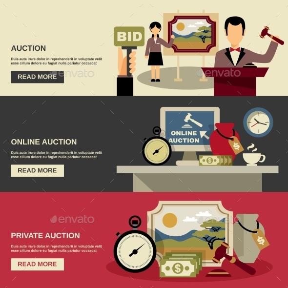 Auction Banners Set - Concepts Business