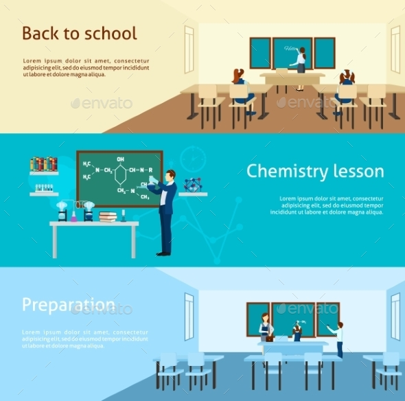 Teacher Banner Set - Backgrounds Decorative