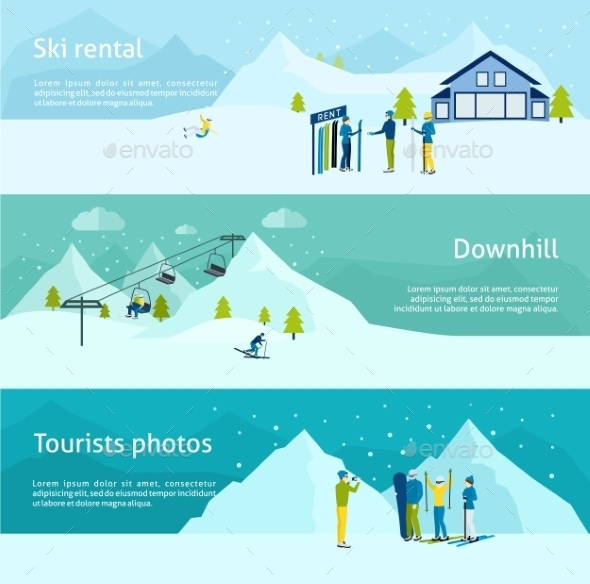 Ski Resort Banner Set - Sports/Activity Conceptual