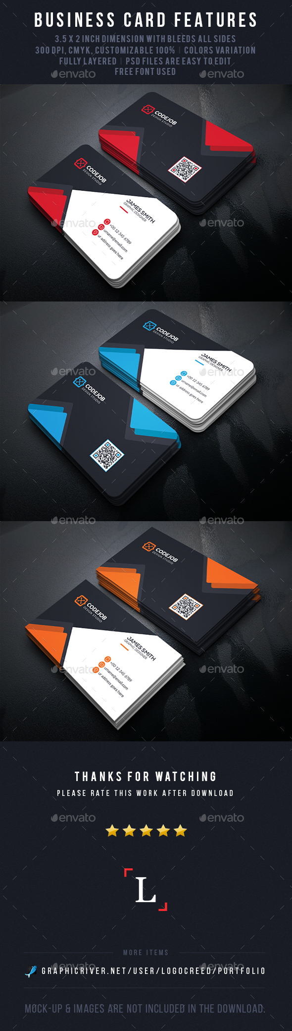 Shape Business Cards - Business Cards Print Templates