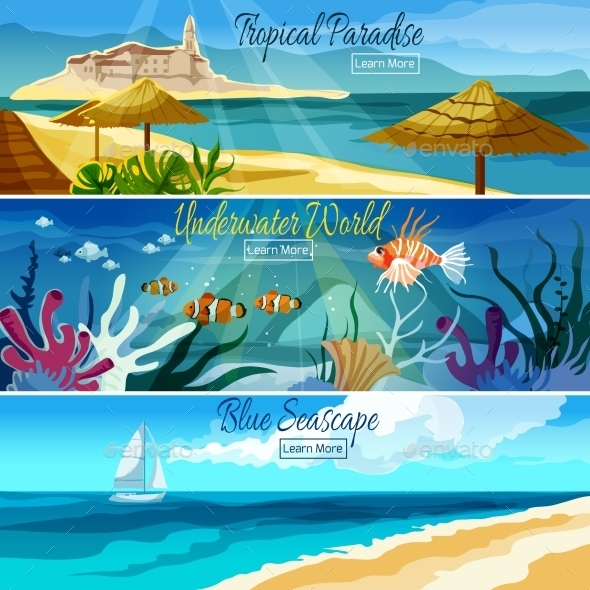 Seascape Banner Set - Landscapes Nature