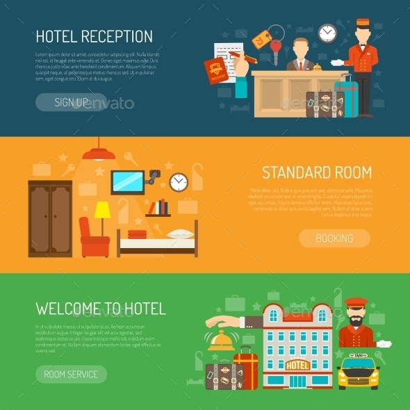Hotel Banner Set - Concepts Business
