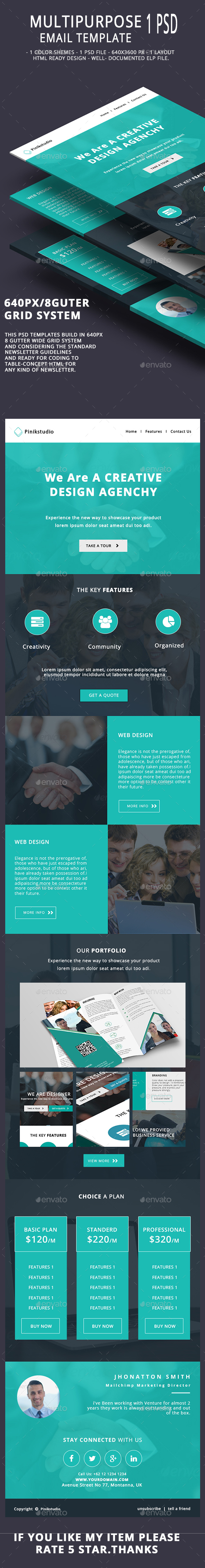 Multipurpose Email Template V11 - E-newsletters Web Elements