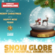 Snow Globe Christmas Mockup with GIF Animation - GraphicRiver Item for Sale