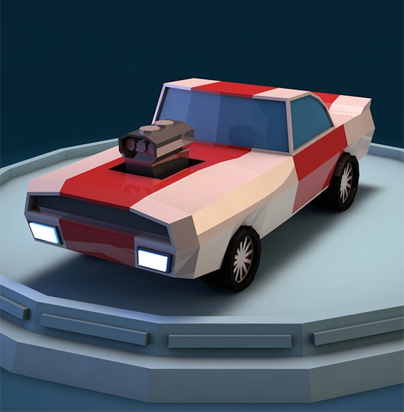 Low poly racing car - 3DOcean Item for Sale