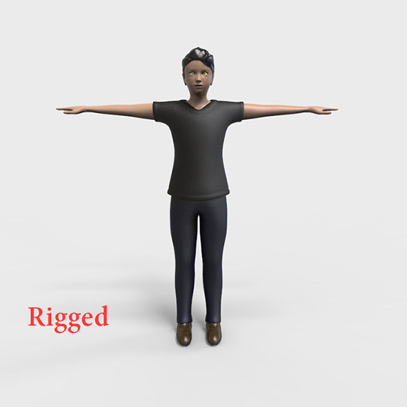 Rigged Male Low polygons character  - 3DOcean Item for Sale