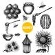 Honey Set Black Hand Drawn Doodle  - GraphicRiver Item for Sale