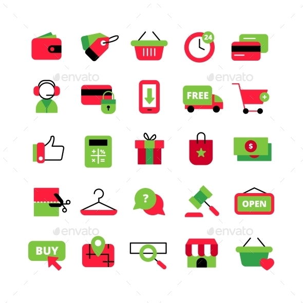 E-Commerce And Shopping Icons Set - Technology Icons