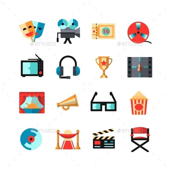 Cinema Isolated Icon Set - Web Icons