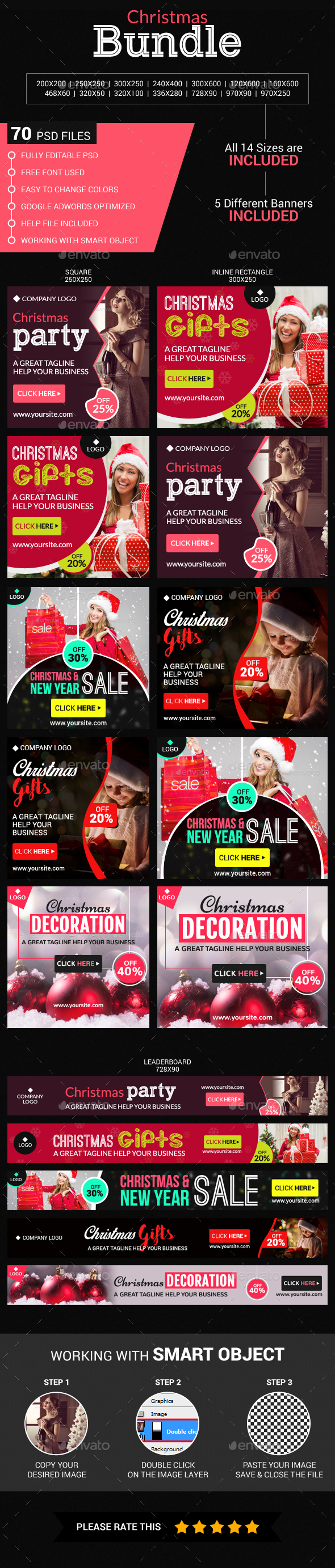 Christmas bundle - Banners & Ads Web Elements