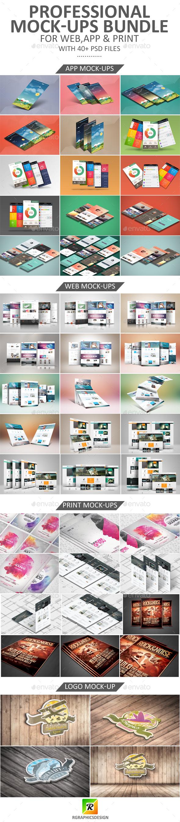 Professional Mock-Ups Bundle - Displays Product Mock-Ups
