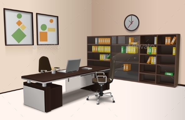 Realistic Office Interior - Concepts Business