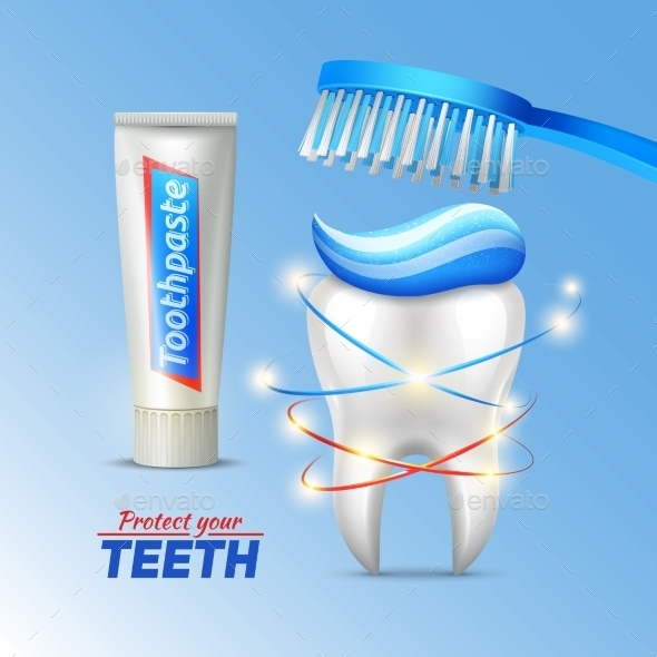 Dental Concept of Teeth Protection - Health/Medicine Conceptual