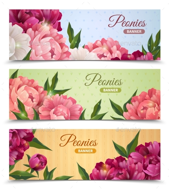 Flower Banners Set - Flowers & Plants Nature