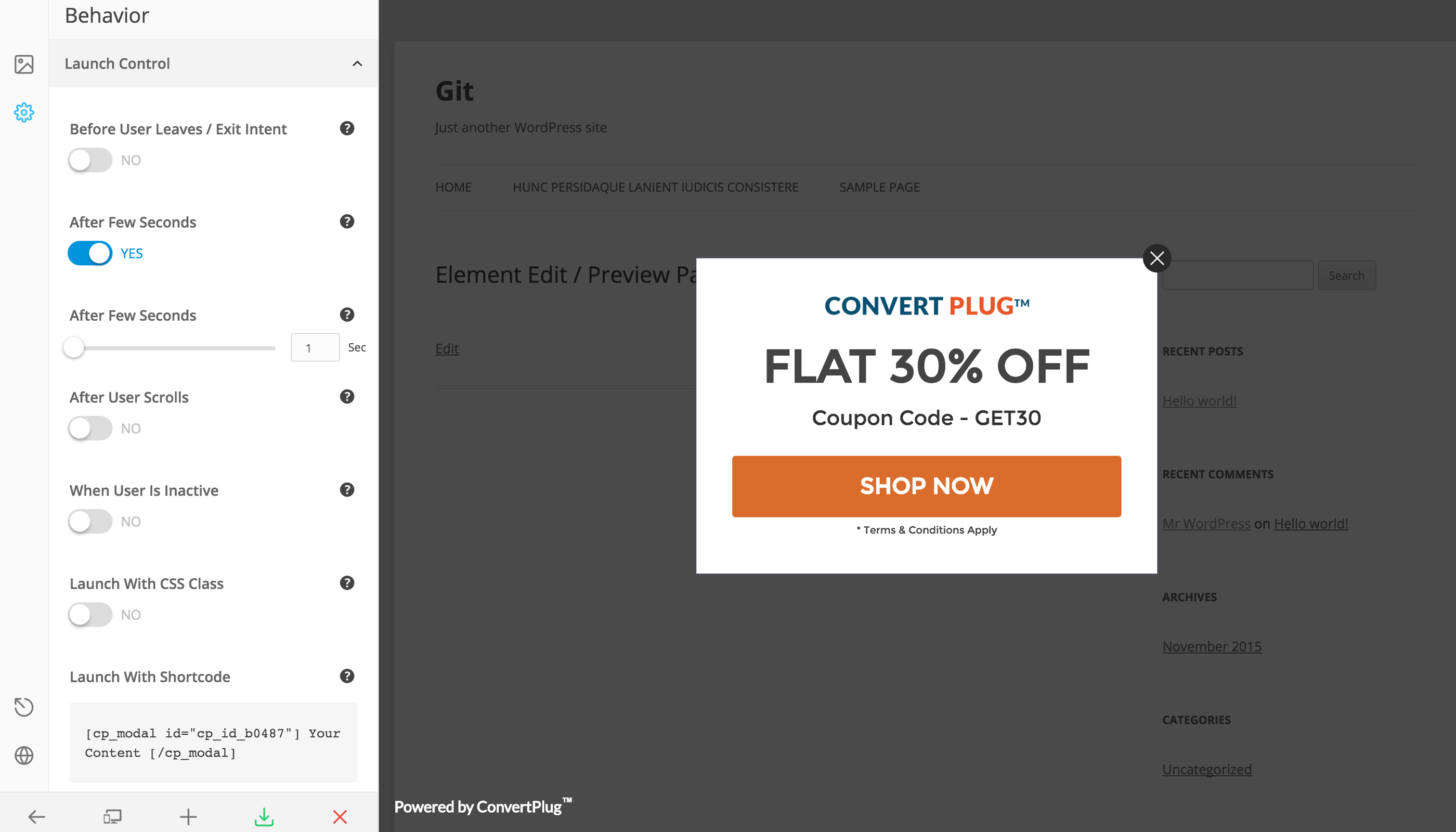 Popup plugin for wordpress convertplus by brainstormforce codecanyon popup plugin for wordpress convertplus fandeluxe Image collections