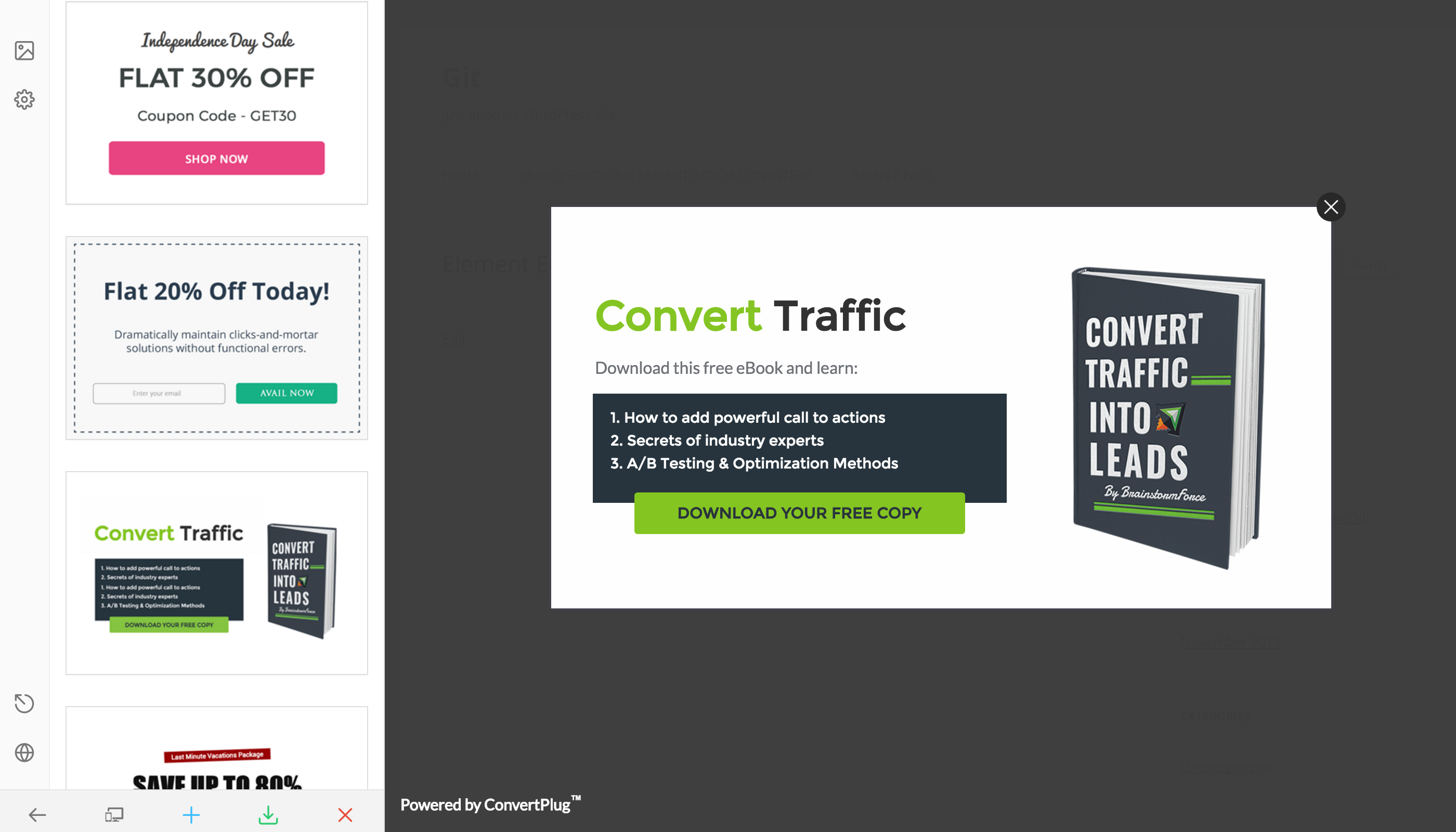 Popup plugin for wordpress convertplus by brainstormforce codecanyon popup plugin for wordpress convertplus fandeluxe Choice Image