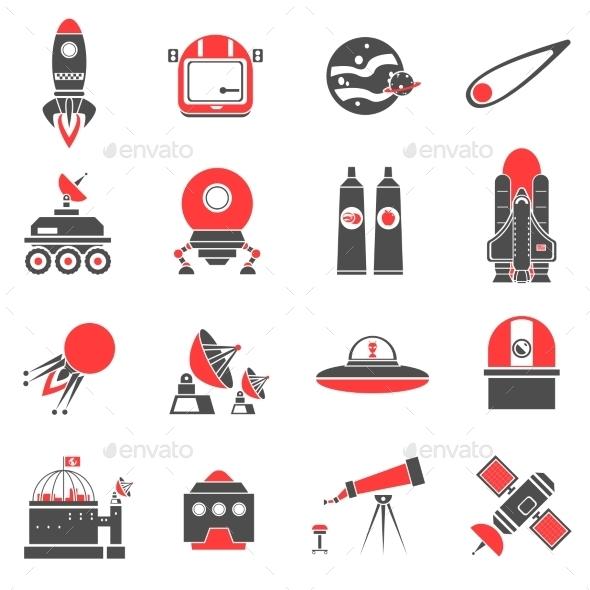 Space Icons Set - Miscellaneous Vectors