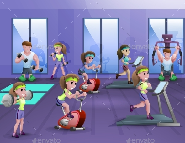 Fitness Hall Poster - Health/Medicine Conceptual