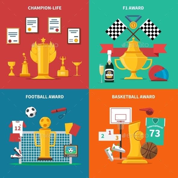 Sport Awards Icons Set - Sports/Activity Conceptual