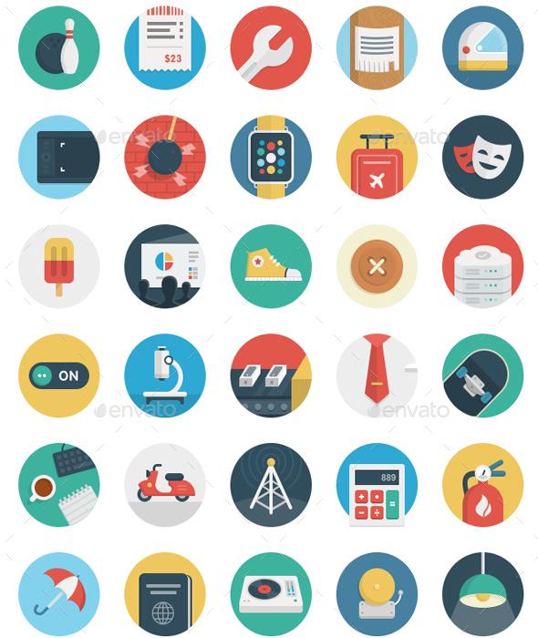 Round Flat Icons - Icons