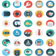 Round Flat Icons - GraphicRiver Item for Sale