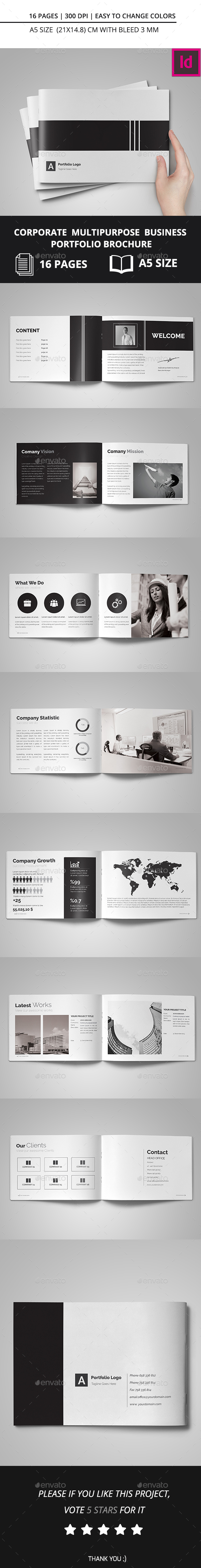 Corporate Multipurpose Business Portfolio Brochure - Corporate Brochures