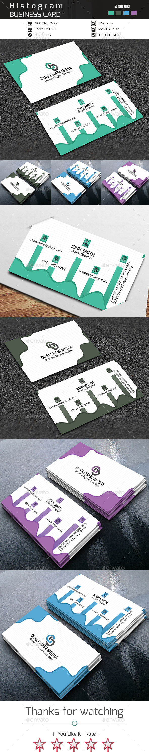 Histogram Business Card - Corporate Business Cards