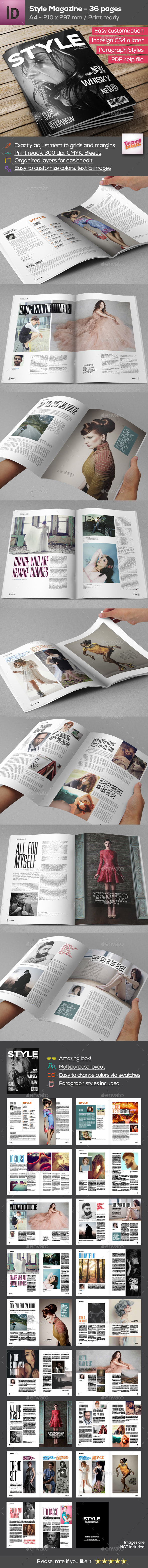 Style Magazine A4 - 36 Pages - Magazines Print Templates