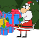 Santa is Opening a Present - VideoHive Item for Sale