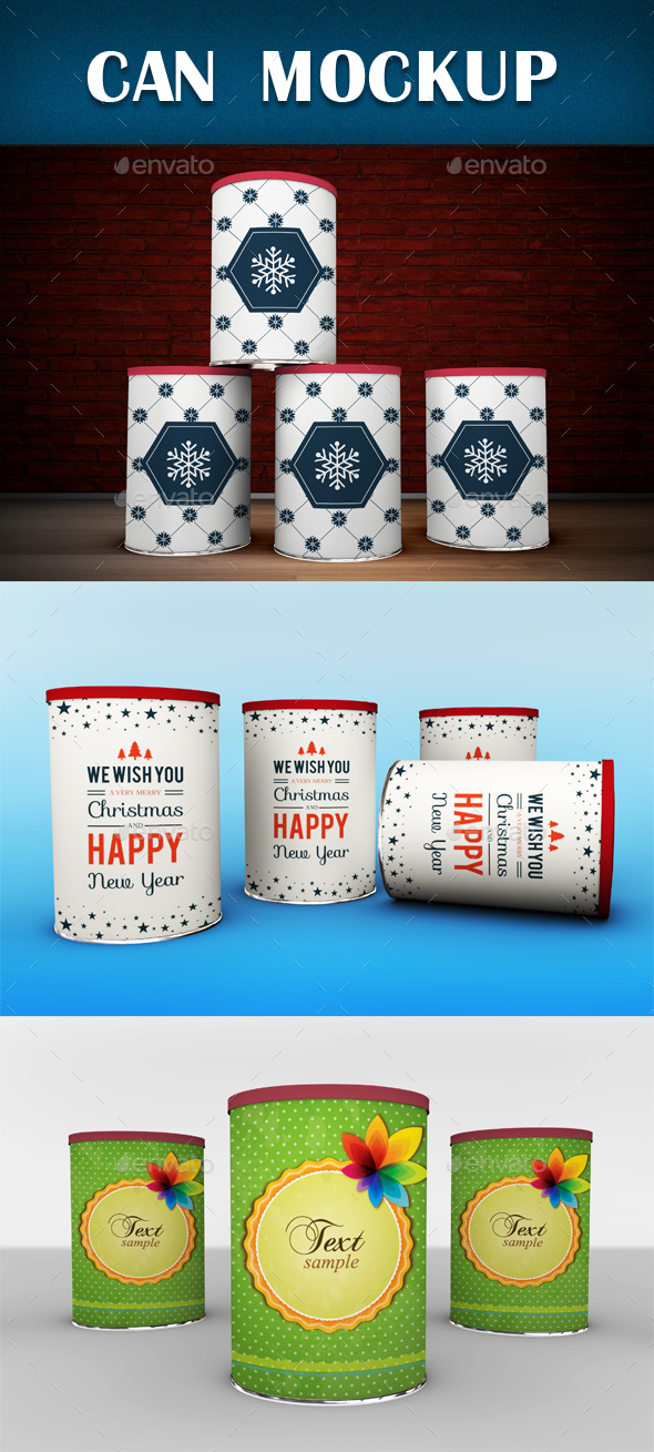 Can Mockup - Miscellaneous Packaging